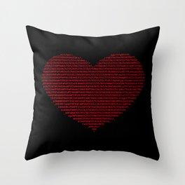 ASCII heart C64 Throw Pillow