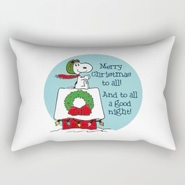Snoopy Merry Christmas Rectangular Pillow