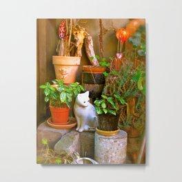 French Garden House Metal Print