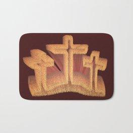 Three Crosses at Calvary Bath Mat