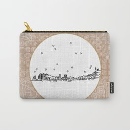Barcelona, Spain City Skyline Illustration Drawing Carry-All Pouch