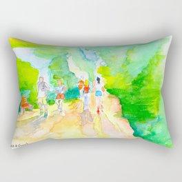 Hike & Bike Trail - Lady Bird Lake Watercolor painting Rectangular Pillow