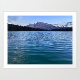 Sunset at Two Jack Lake Art Print