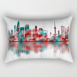 Seoul South Korea Skyline Rectangular Pillow