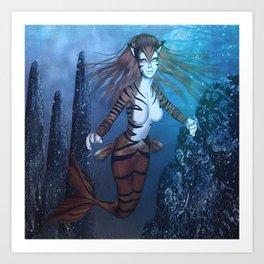 Kat-Fish Art Print