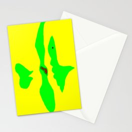 Fish in Green Stationery Cards