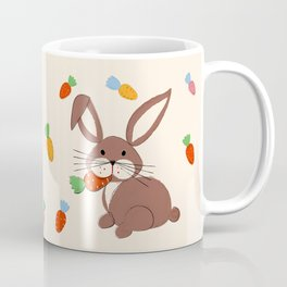 Cute Bunny and Carrots Coffee Mug