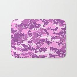 Horse Camo PINK Bath Mat