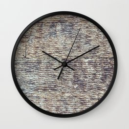 Sawn Along Tile Pattern Wall Texture Wall Clock