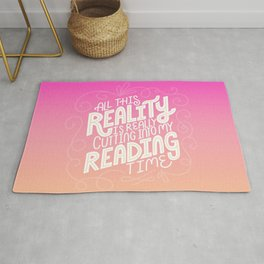 Reality Vs. Reading Pink Orange Rug