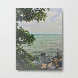 Starring out at the horizon Metal Print