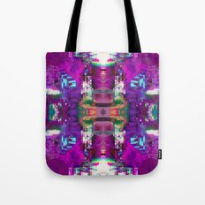 Purple digital patchwork Tote Bag
