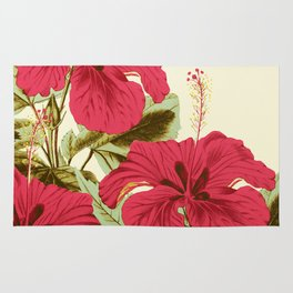 Vintage Garden (Tropical Hibiscus) Rug