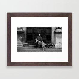 At the Doors Framed Art Print
