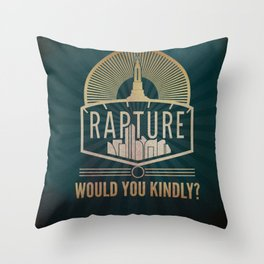 Bioshock: Rapture gritty and dark Art Deco Throw Pillow