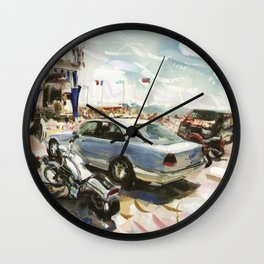 Scorching afternoon at The Atlantic Beach Club, Summer 1998 Wall Clock