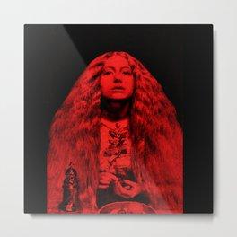 Millais Bridesmaid In Red Metal Print