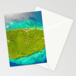 Drone Pescador Island, Philippines Stationery Cards