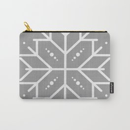 Snowflake - Silver Carry-All Pouch