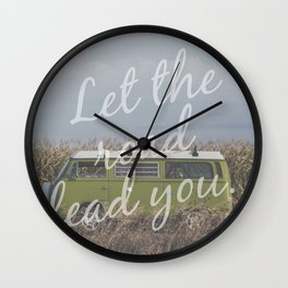 Let the road lead you. Wall Clock