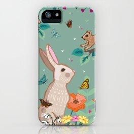 Hare, Squirrel & Blackbird iPhone Case