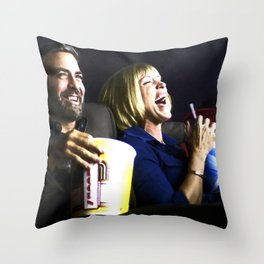 "Frances McDormand and George Clooney @ film ""Burn After Reading"" (Joel & Ethan Coen - 2008) Throw Pillow"