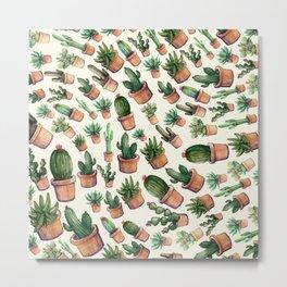 Cactus Wave Metal Print