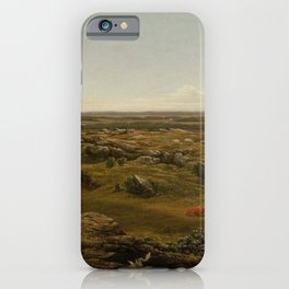 Rocks In New England 1855 By Martin Johnson Heade | Reproduction iPhone Case