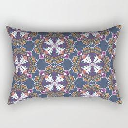 apache, tribal pattern in grey Rectangular Pillow