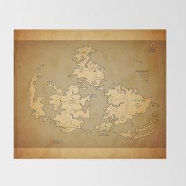 Gaia Midgar Final Fantasy VII Map Throw Blanket