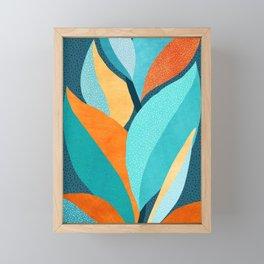 Abstract Tropical Foliage Framed Mini Art Print
