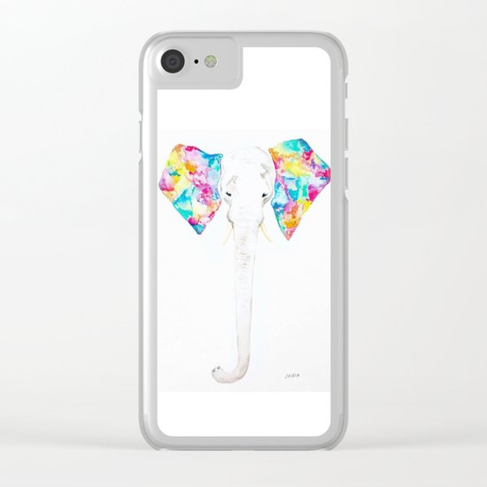 Pastel Ears Clear iPhone Case