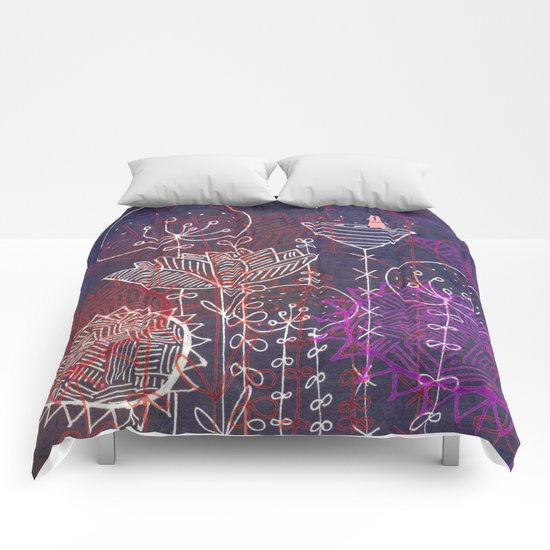 night flowers Comforters