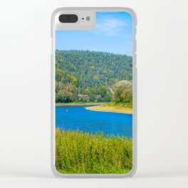 Autumn at the Elbe river Clear iPhone Case