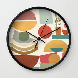 Modern Abstract Art 77 Wall Clock