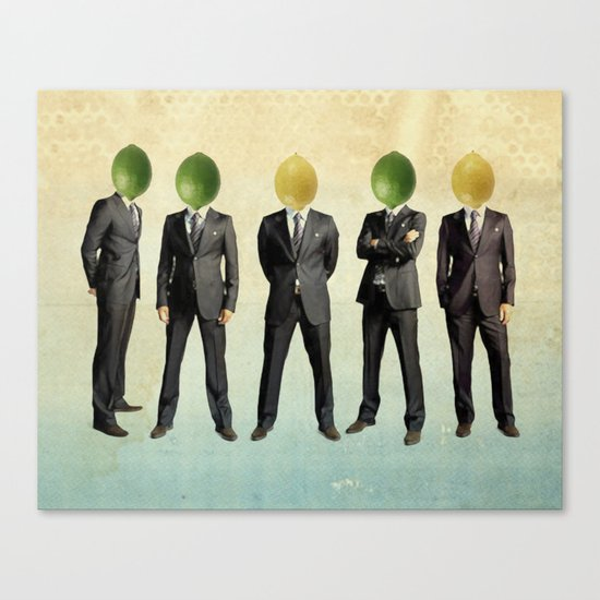 lemon and lime heads Canvas Print