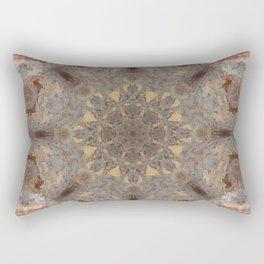 Copper Brown Terracotta Mandala and Tile Rectangular Pillow