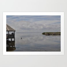 Outerbanks Bay Landscape Scene 2 Art Print