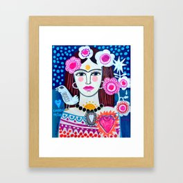 Beautiful Frida Framed Art Print