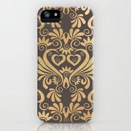 Gold swirls damask #5 iPhone Case