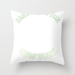 East Hampton T-Shirt New York Sailing Vacation  Throw Pillow