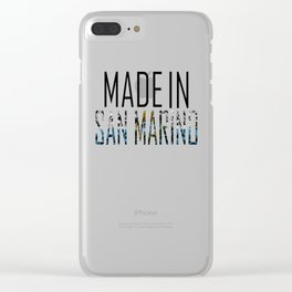 Made In San Marino Clear iPhone Case