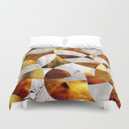 Curves - Silver and Gold Duvet Cover