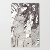 princess mononoke Canvas Prints featuring Mononoke by nu boniglio
