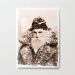 Vintage Santa Claus Christmas Print Metal Print