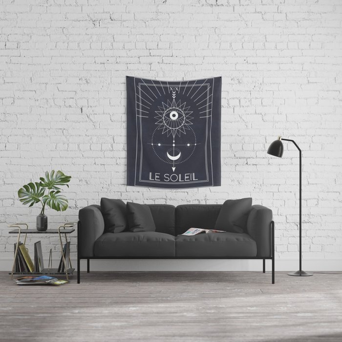 Le Soleil or The Sun Tarot Wall Tapestry