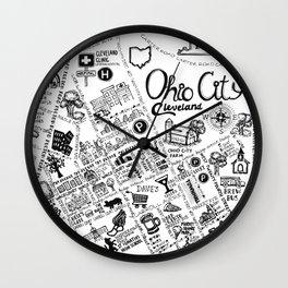 Ohio City Map Wall Clock