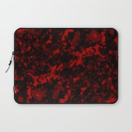 A gloomy cluster of red bodies on a dark background. Laptop Sleeve