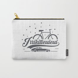 Bicycle with stars and small car Carry-All Pouch