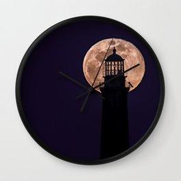 Blue Moon through North Tower Wall Clock